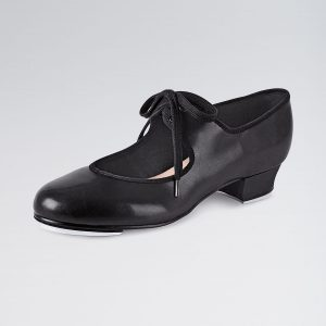 Brighton Ballet School bloch low heel time step tap shoe black