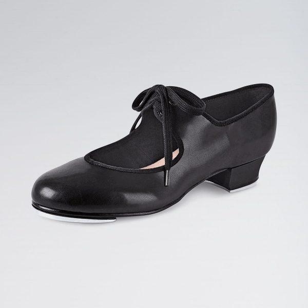 Brighton Ballet School bloch low heel time step tap shoe black