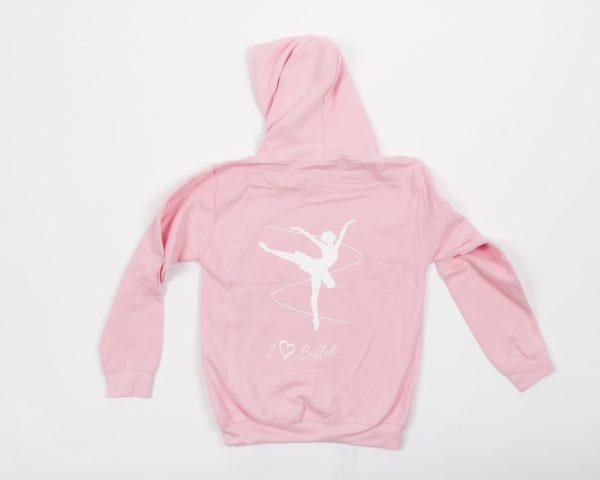 Brighton Ballet School hoodie baby pink