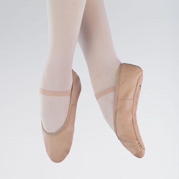 brighton ballet school 1st position leather ballet shoe
