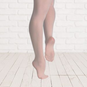 Brighton Ballet School Plume footed tights pink