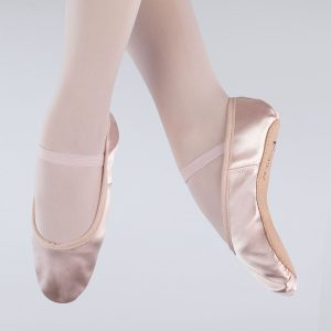 brighton ballet school 1st position satin ballet shoe