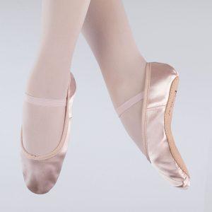 brighton ballet school 1st position satin ballet shoe