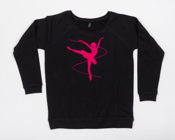 Brighton Ballet School Boatneck sweatshirt black