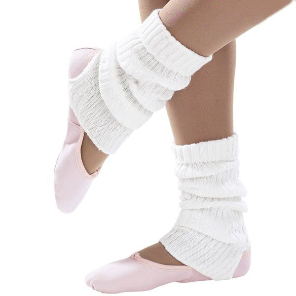 Brighton Ballet School Ankle Leg Warmer white