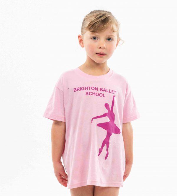brighton ballet school tshirt children's size pink