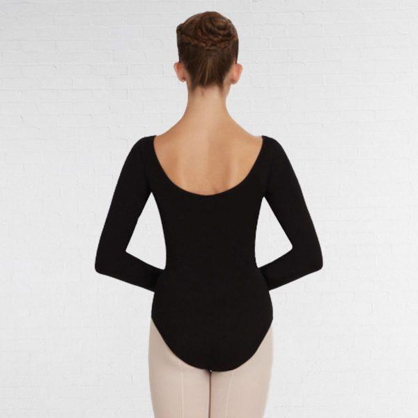 Brighton Ballet School Capezio long sleeve leotard black