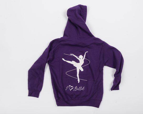 Brighton Ballet School hoodie purple