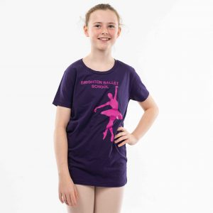 brighton ballet school t-shirt purple teen and adult sized