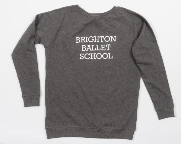 Brighton Ballet School Boatneck sweatshirt grey