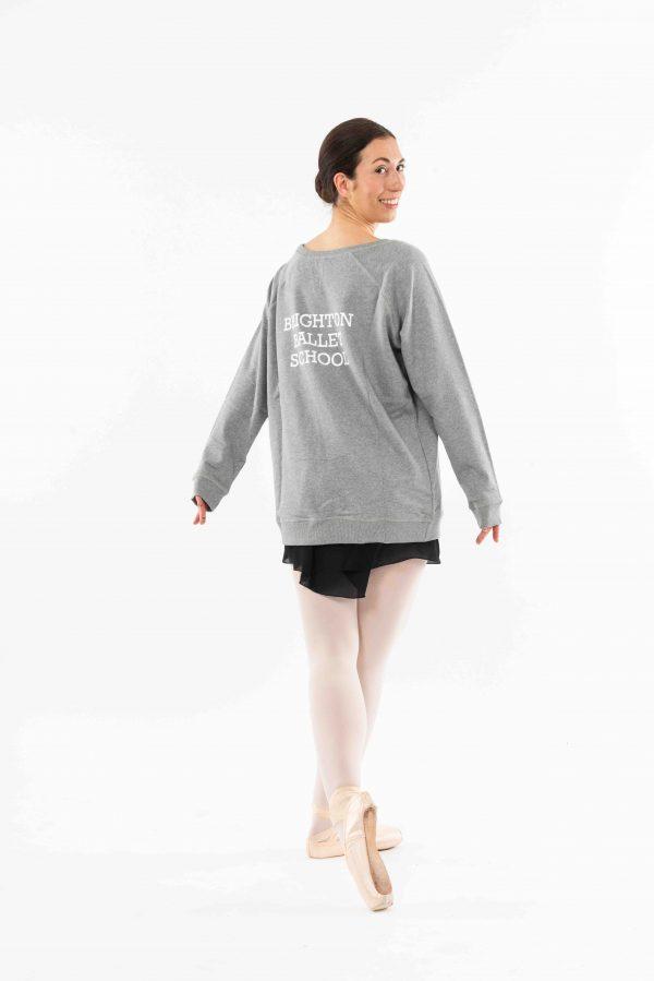 Brighton Ballet School Boatneck sweatshirt light grey