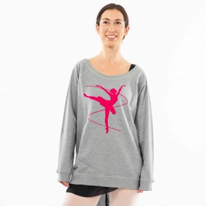 Brighton Ballet School Boatneck sweatshirt light grey