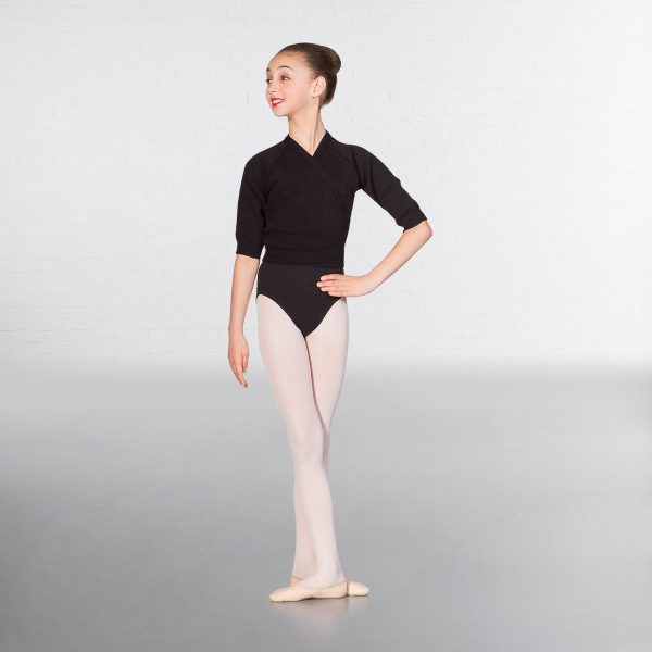 brighton ballet school basic cross over cardigan black