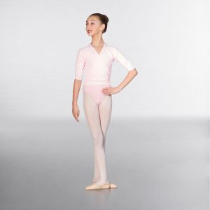 brighton ballet school basic cross over cardigan pink