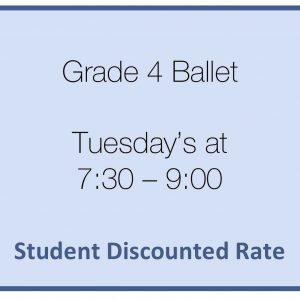 brighton ballet school grade 4 ballet student rate