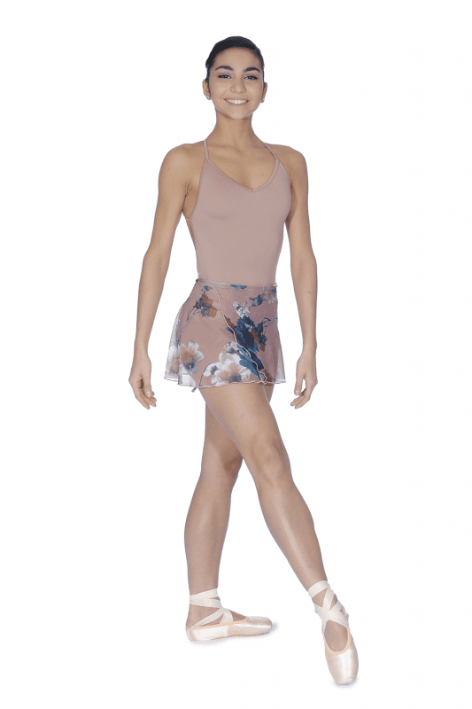 brighton ballet school candid wrap skirt cafe au lait