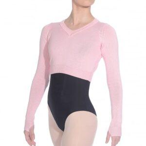 brighton ballet school RV cropped warm up jumper