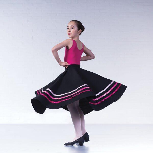 brighton ballet school character skirt pinks